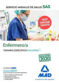 ENFERMERO/A DEL SERVICIO ANDALUZ DE SALUD. TEMARIO ESPECÍFICO VOLUMEN 1.