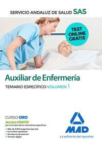 AUXILIAR DE ENFERMERIA DEL SAS TEMARIO ESPECIFICO VOLUMEN 1.