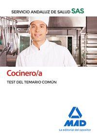 COCINERO/A DEL SERVICIO ANDALUZ DE SALUD. TEST COMÚN.