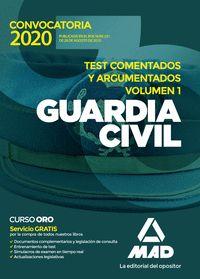TEST COMENTADOS Y ARGUMENTADOS. GUARDIA CIVIL