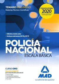 TEMARIO POLICIA NACIONAL VOLUMEN 3.
