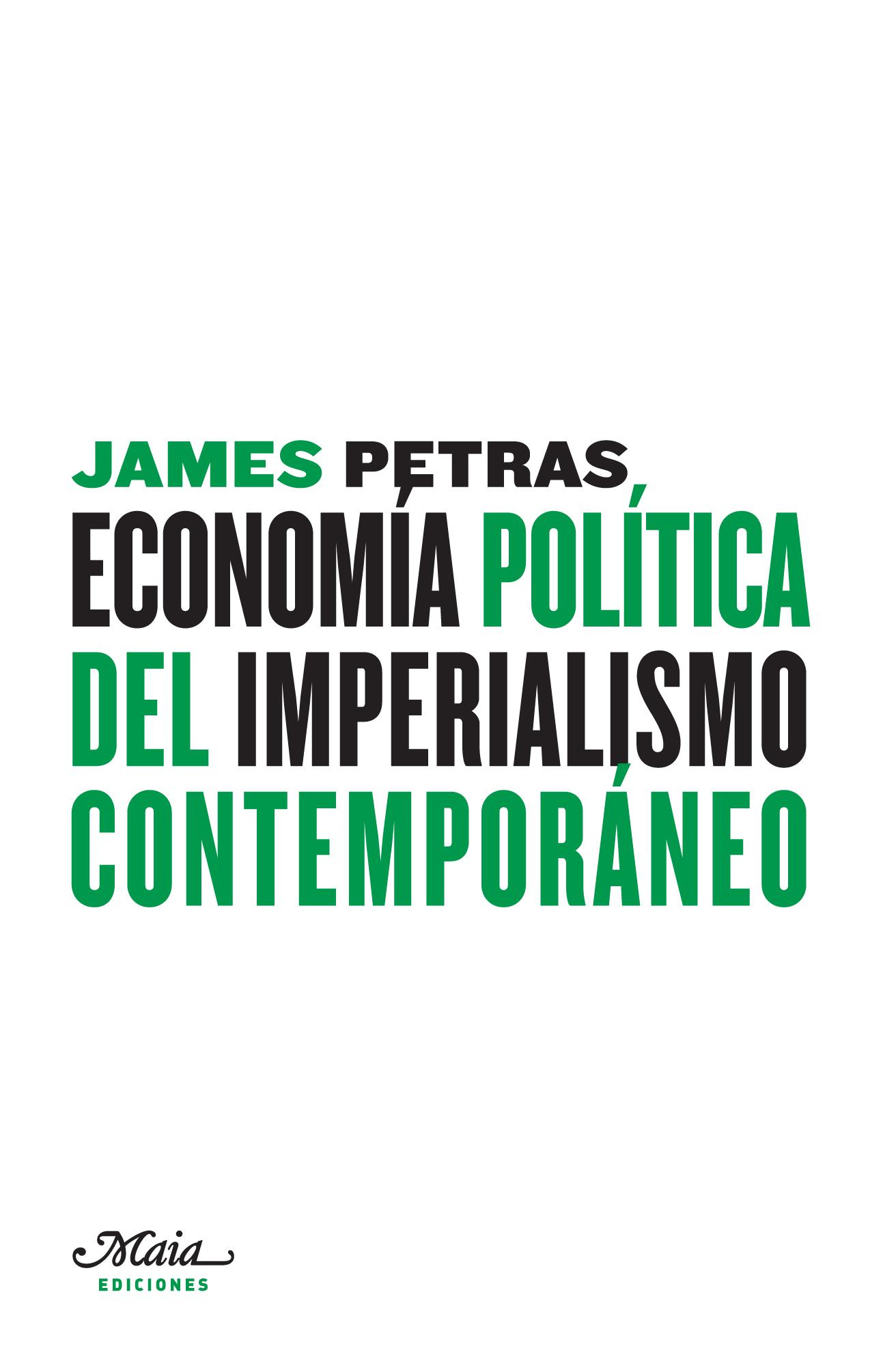 ECONOMÍA POLÍTICA DEL IMPERIALISMO CONTEMPORÁNEO