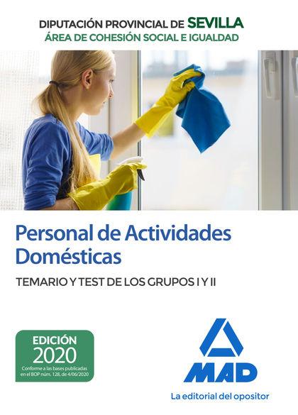 PERSONAL DE ACTIVIDADES DOMÉSTICAS (ÁREA DE COHESIÓN SOCIAL E IGUALDAD) DE LA DI