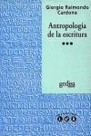 ANTROPOLOGIA ESCRITURA