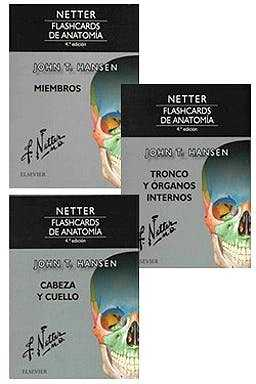 PACK NETTER FLASHCARDS DE ANATOMIA.