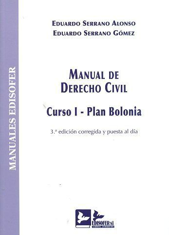 MANUAL DE DERECHO CIVIL : CURSO I : PLAN BOLONIA