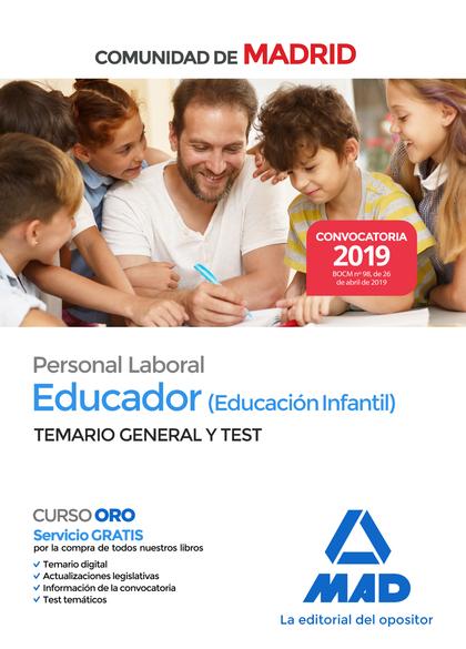 EDUCADOR (EDUCACIÓN INFANTIL). PERSONAL LABORAL DE LA COMUNIDAD DE MADRID TEMARI.