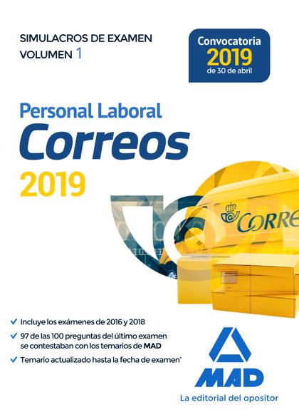PERSONAL LABORAL DE CORREOS Y TELÉGRAFOS. SIMULACROS DE EXAMEN VOLUMEN 1.