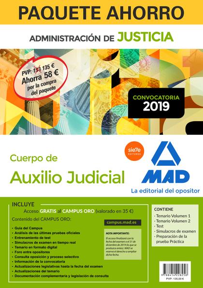 PAQUETE AHORRO AUXILIO JUDICIAL. AHORRA 58 ? (INCLUYE TEMARIO VOLÚMENES 1 Y 2; T.