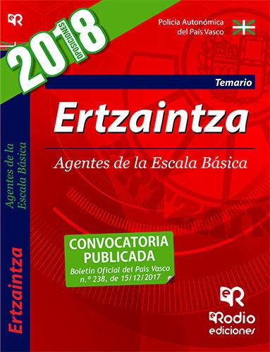 ERTZAINTZA. AGENTES DE LA ESCALA BASICA. TEMARIO. TERCERA EDICION (2018).