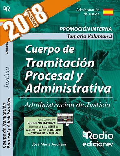 TRAMITACION PROCESAL Y ADMINISTRATIVA DE JUSTICIA. PROMOCION INTERNA. TEMARIO VO