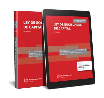 LEY DE SOCIEDADES DE CAPITAL (PAPEL + E-BOOK).
