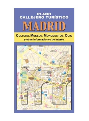 MADRID, PLANO CALLEJERO TURÍSTICO