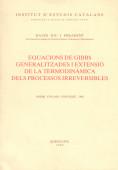 EQUACIONS DE GIBBS GENERALITZADES I EXTENSIÓ DE LA TERMODINÀMICA DELS PROCESSOS