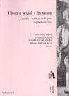 HISTORIA SOCIAL Y LITERATURA, FAMILIA Y NOBLEZA EN ESPAÑA (SIGLOS XVIII-XIX)
