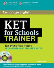 KET SCHOOLS TRAINER BK KEY /CD