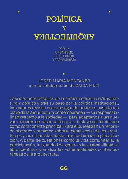 POLÍTICA Y ARQUITECTURA.
