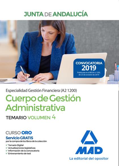 CUERPO DE GESTIÓN ADMINISTRATIVA [ESPECIALIDAD GESTIÓN FINANCIERA (A2 1200)] DE. TEMARIO VOLUME
