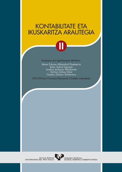 KONTABILITATE ETA IKUSKARITZA ARAUTEGIA II.