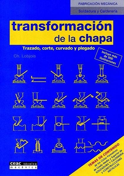TRANSFORMACIÓN DE LA CHAPA: TRAZADO, CORTE, CURVADO Y PLEGADO