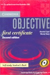 OBJECTIVE FIRST CERTIFICATE 2ND EDITION STUDENT´S BOOK WITH ANSWERS.