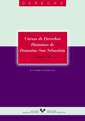 CURSOS DE DERECHOS HUMANOS DE DONOSTIA-SAN SEBASTIÁN III