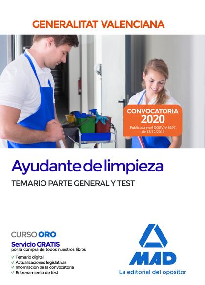 TEMARIO PARTE GENERAL Y TEST AYUDANTE DE LIMPIEZA DE LA ADMINISTRACION DE LA GEN.