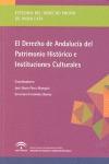 DERECHO DE ANDALUCIA PATRIMONIO HISTORICO E INST.CULTURALES