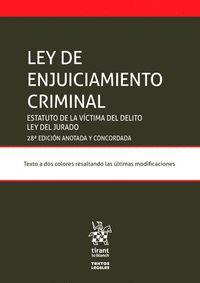 LEY DE ENJUICIAMIENTO CRIMINAL 28ª EDICIÓN.