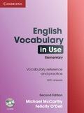 ANTIGUA ED.ENGLISH VOCABULARY USE ELEMENTARY KEY/CD ROM 2ED