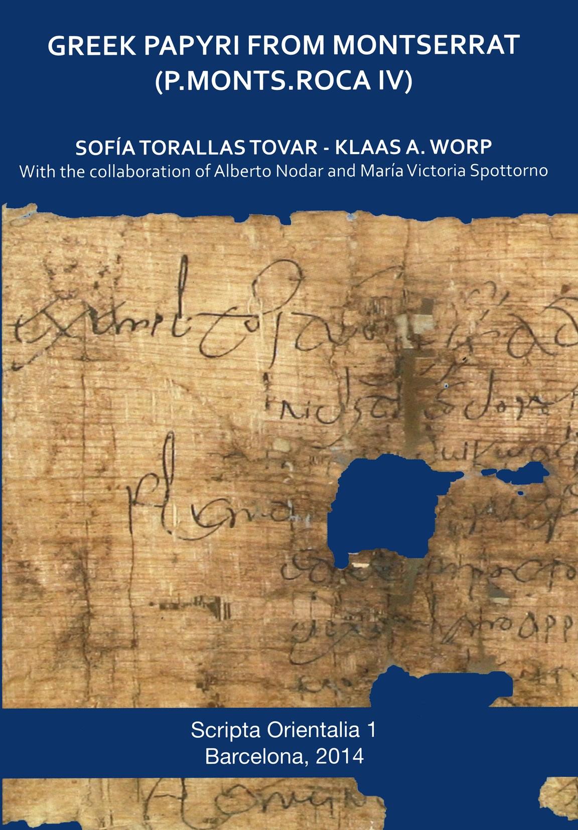 GREEK PAPYRI FROM MONTSERRAT : P.MONTS. ROCA IV