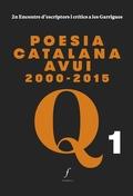 POESIA CATALANA AVUI 2000-2015