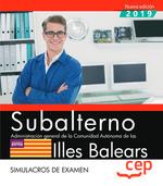 SUBALTERNO CAIB SIMULACROS DE EXAMEN 2019.