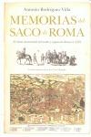 MEMORIAS DEL SACO DE ROMA : EL RELATO HISTÓRICO DEL ASALTO Y SAQUEO DE ROMA EN 1527 MEDIANTE LO