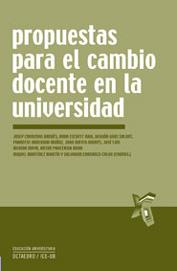 PROPUESTAS PARA EL CAMBIO DOCENTE EN LA UNIVERSIDAD