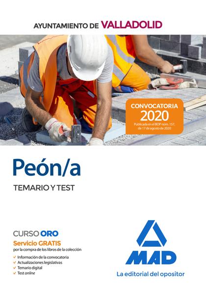 PEÓN/A DEL AYUNTAMIENTO DE VALLADOLID. TEMARIO Y TEST.