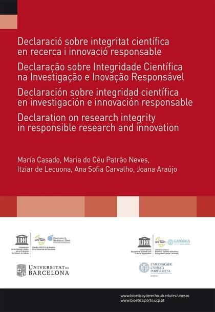 DECLARACIÓ SOBRE INTEGRITAT CIENTÍFICA EN RECERCA I INNOVACIÓ RESPONSABLE