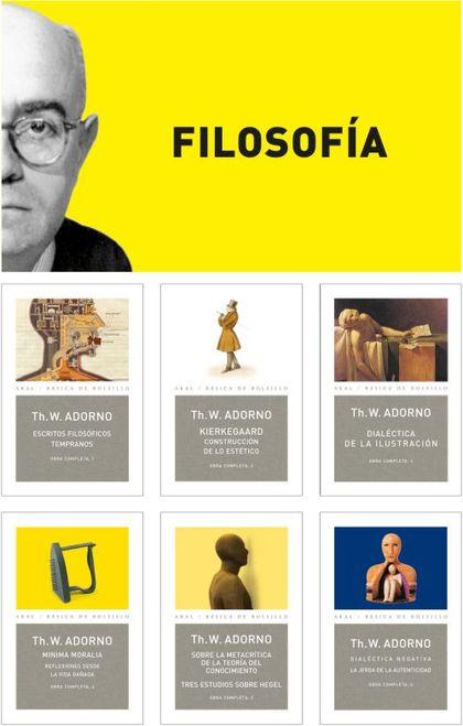 O.C.ADORNO LOTE FILOSOFIA.