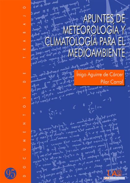 APUNTES DE METEOROLOGÍA Y CLIMATOLOGÍA PARA EL MEDIOAMBIENTE
