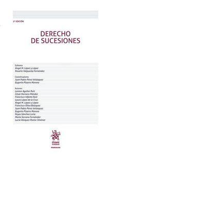DERECHO DE SUCESIONES 2ª EDICION, 2017