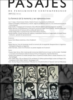 LA HERENCIA DE LA MEMORIA Y SUS REPRESENTACIONES                                PASAJES, 56