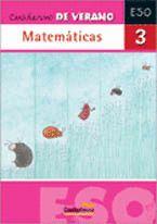 MATEMÁTICAS, 3 ESO. CUADERNO DE VERANO