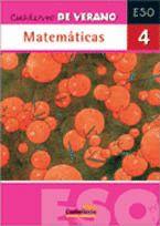 MATEMÁTICAS, 4 ESO. CUADERNO DE VERANO