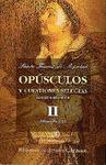 OPÚSCULOS Y CUESTIONES SELECTAS. II: FILOSOFÍA (II).
