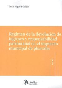 REGIMEN DE LA DEVOLUCION DE INGRESOS Y RESPONSABILIDAD PATR