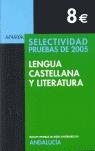SELECTIVIDAD, LENGUA CASTELLANA Y LITERATURA (ANDALUCÍA). PRUEBAS 2005