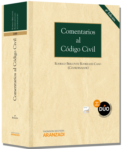 COMENTARIOS AL CÓDIGO CIVIL (PAPEL + E-BOOK).