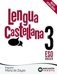 MARÍA DE ZAYAS 3 ESO. LENGUA CASTELLANA. NOVETAT