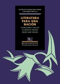 LITERATURA PARA UNA NACIÓN                                                      ESTUDIOS SOBRE