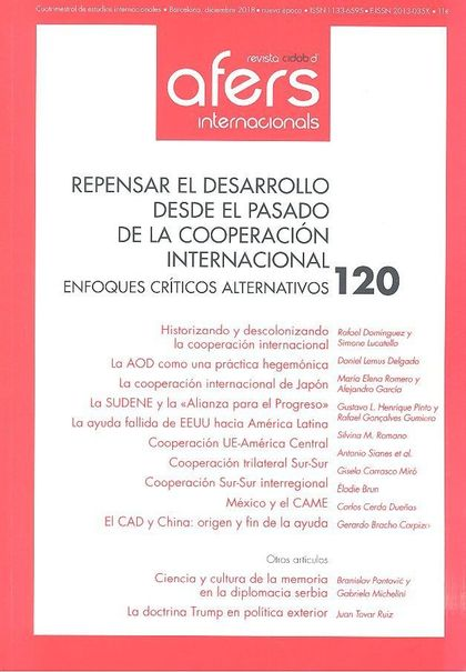 REVISTA CIDOB D´AFERS 120 REPENSAR EL DESARROLLO DESDE EL PASADO DE LA COOPERACI